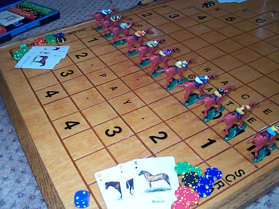 horse race card dice game rules